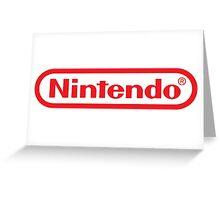Retro NES Nintendo Logo Greeting Card