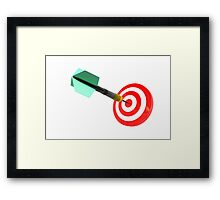 The success of hitting the target for the purpose of achieving the goal Framed Print