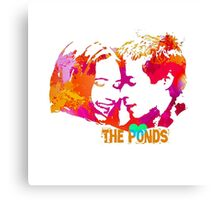 The Ponds, Amy and Rory  Canvas Print