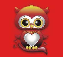 Baby Owl Love Heart Cartoon  One Piece - Long Sleeve