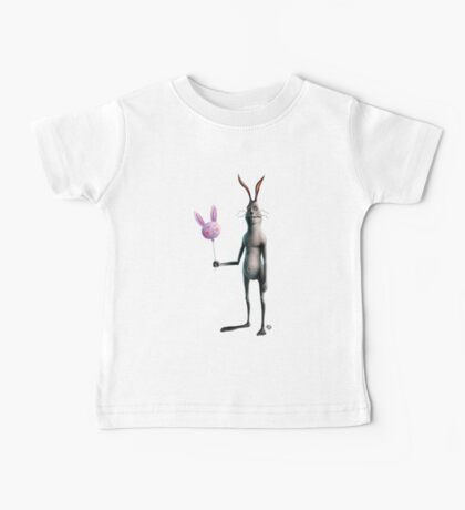 Rabbit & Balloon Baby Tee