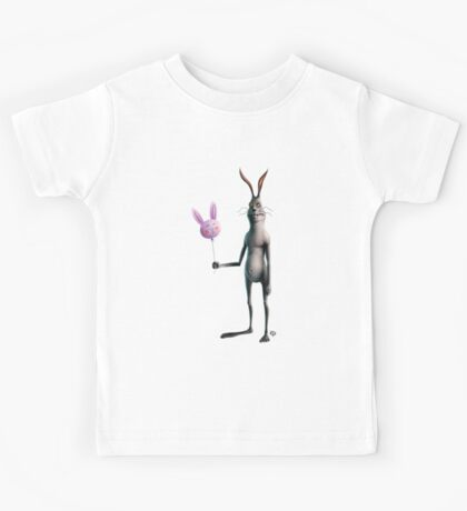 Rabbit & Balloon Kids Tee