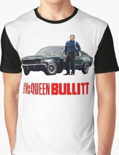 STEVE MCQUEEN BULLITT 1968 FORD MUSTANG Graphic T-Shirt