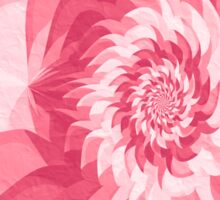 Surreal fractal warm pink flower Sticker