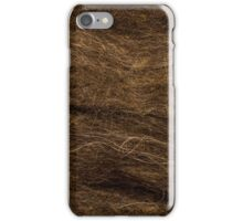 Wool for felting texture iPhone Case/Skin