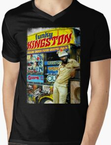 FUNKY KINGSTON Mens V-Neck T-Shirt