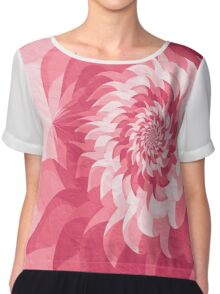 Surreal fractal warm pink flower Chiffon Top