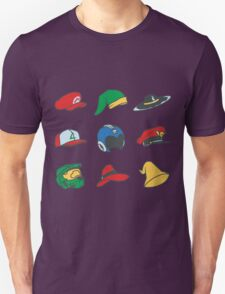 Video Game Hats T-Shirt T-Shirt