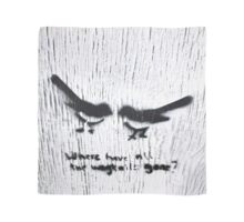 Wagtails -square  Scarf