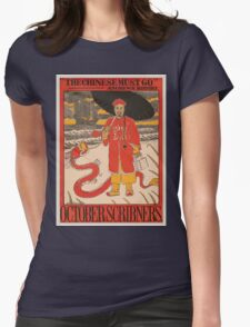 Artist Posters The Chinese must go Andrews' history October Scribner's 0841 Womens Fitted T-Shirt