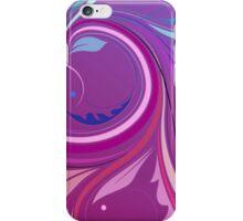 Purple Elegant Floral Swirl iPhone Case/Skin