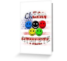 clean athlete , U S A Greeting Card