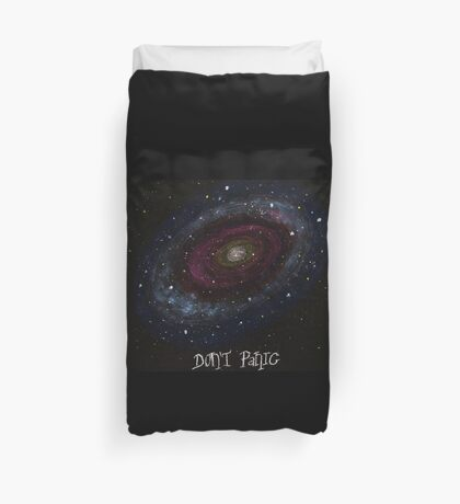 The Hitchhiker's Guide to the Galaxy Tshirt , Don't Panic Duvet Cover