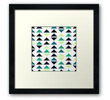 Geometric pattern of triangles Framed Print