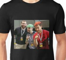 Markiplier, Jacksepticeye, and LordMinion777 at PAX East Unisex T-Shirt