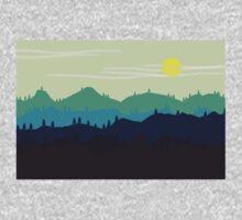 Mountain landscape. Illustration. Kids Tee
