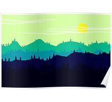 Mountain landscape. Illustration. Poster