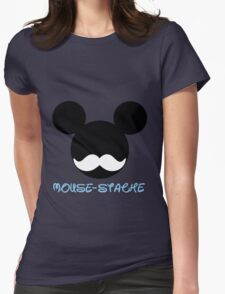 mouse-stache Womens Fitted T-Shirt
