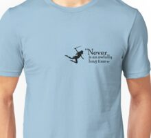 """Peter Pan - """"Never is an awfully long time"""" Unisex T-Shirt"""