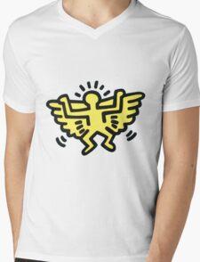 Keith Haring Wings Mens V-Neck T-Shirt