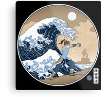 Avatar Waterbender Great Wave Metal Print