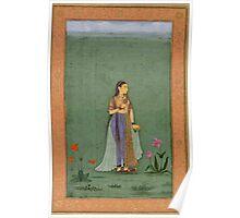 Two portraits of Jahanara and Nadira Banu - Mughal School Poster