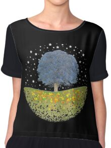 Starry Night Sky Chiffon Top