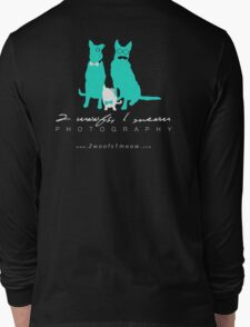 2 Woofs, 1 Meow - white font Long Sleeve T-Shirt