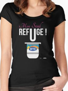 Mon Seul Refuge (What The Cut Webshow) Women's Fitted Scoop T-Shirt