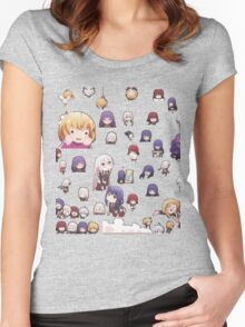 Anne Happy - CHIBI CAST (RENDER) Women's Fitted Scoop T-Shirt