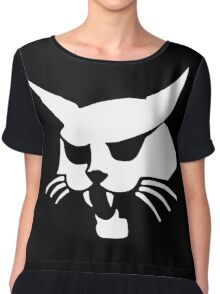 Withe wild cat Chiffon Top