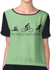 Eat, Sleep, Train, Repeat. Chiffon Top