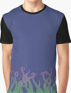 Deep Tentacle Action (purple green) Graphic T-Shirt
