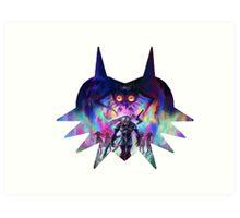 Zelda majoras mask Art Print