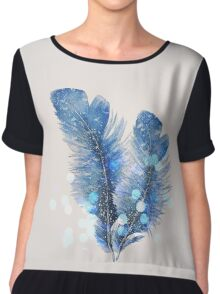Feather Chiffon Top