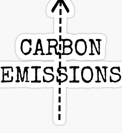 cut carbon emissions Sticker