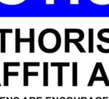 AUTHORISED GRAFFITI AREA Sticker
