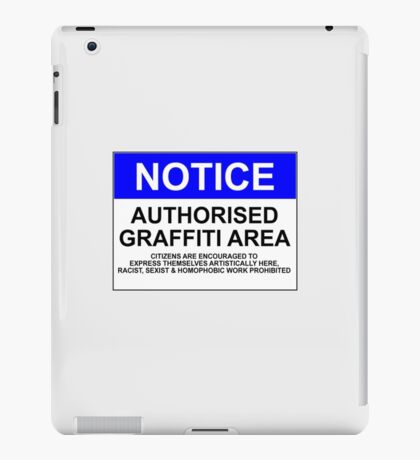 AUTHORISED GRAFFITI AREA iPad Case/Skin