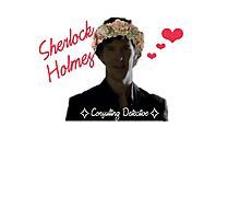 Sherlock Holmes - Flower Crown Photographic Print