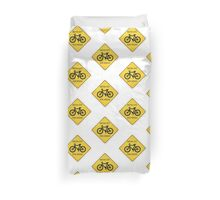 Watch Out For Bikes!! - Sticker Duvet Cover