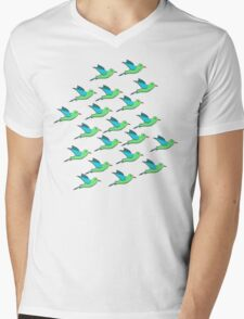 Cute Birds Mens V-Neck T-Shirt