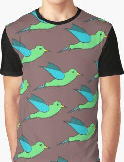 Cute Birds Graphic T-Shirt