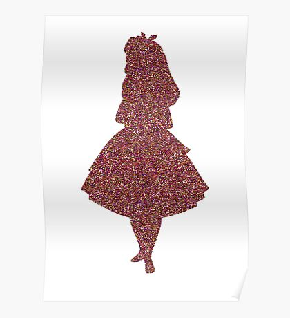 Glitter party Alice Poster