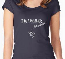 GPDU - healer not dealer Women's Fitted Scoop T-Shirt