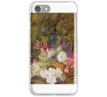 Vincent Clare - Still Life with a Basket of Flowers iPhone Case/Skin