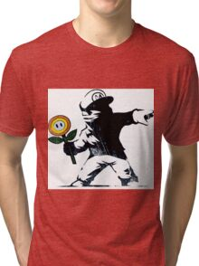 The Mario Flower Chucker Tri-blend T-Shirt