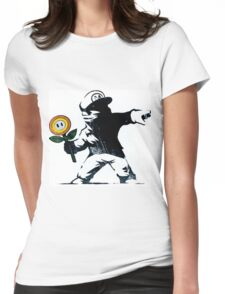 The Mario Flower Chucker Womens Fitted T-Shirt