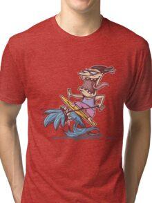 crazy surfer Tri-blend T-Shirt