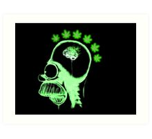 Homer Simpson: Weed on the Brain (no text) Art Print
