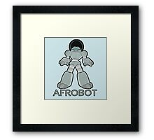 Afrobot- robot with afro Framed Print